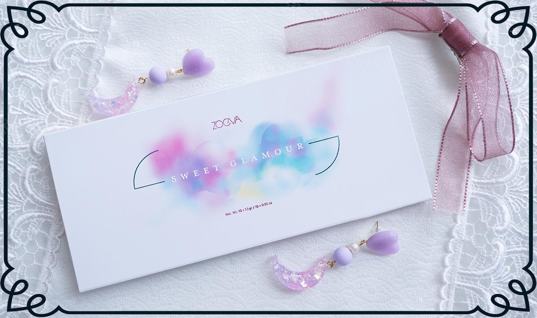 {時尚彩妝}少女心噴發,2017如糖果盒般的Zoeva十色眼影盤Sweet Glamour!  清透水彩糖果色,時髦夢幻質地又細緻,是實用款唷!