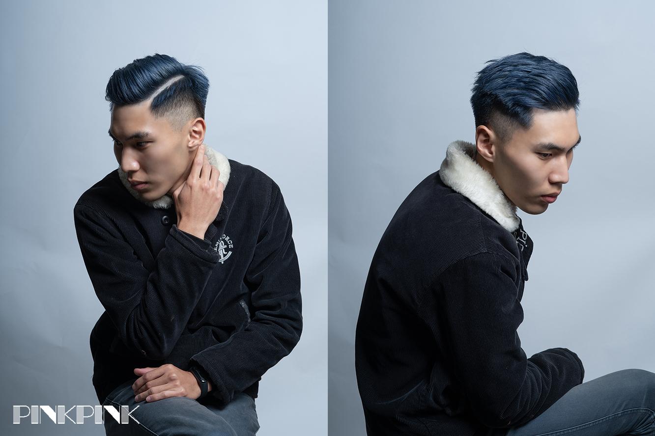 {台中美髮}男生剪髮百搭的Undercut!不論是成熟穩重,或是隨意瀟灑都能輕鬆駕馭,搭配上『霧灰藍』凸顯我的品味及性格。